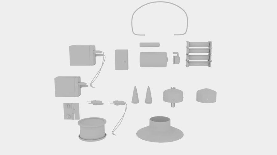 Pacchetti di componenti elettronici royalty-free 3d model - Preview no. 5