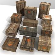 Explosive crates PBR 3d model