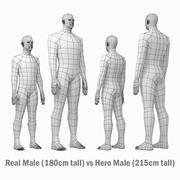 Siatka podstawowa męskiego ciała w spoczynku 3d model