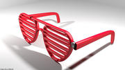 Novelty Eyeglasses - Shutter 3d model