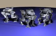 四足的急躁机械 3d model