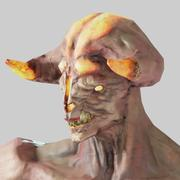 Demone del fuoco 3d model