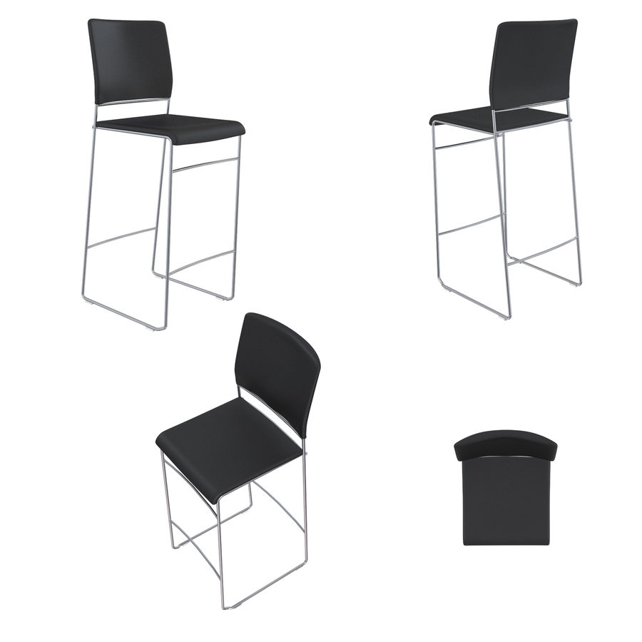 Barkrukken en stoelen royalty-free 3d model - Preview no. 17