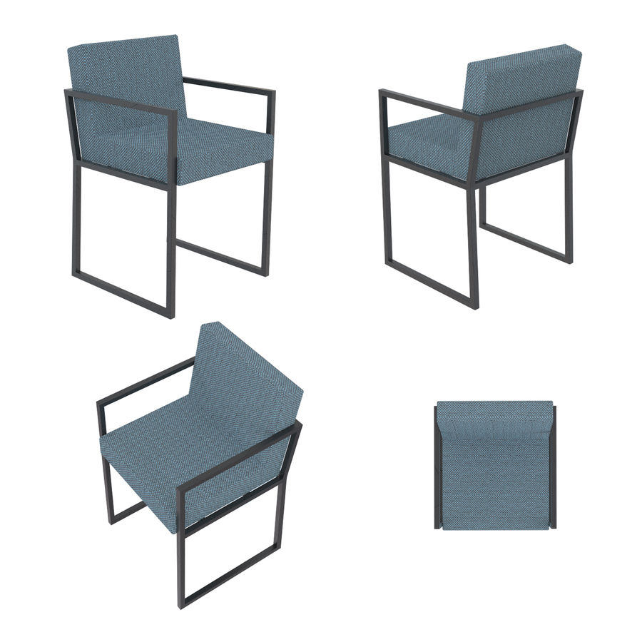 Barkrukken en stoelen royalty-free 3d model - Preview no. 18