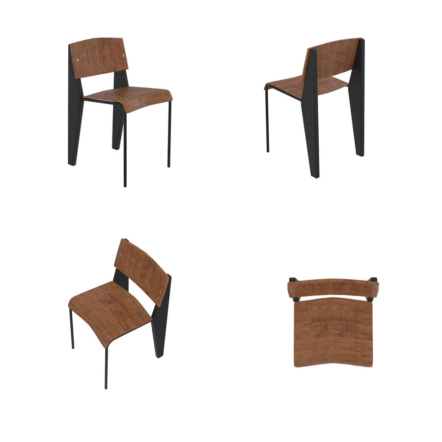 Barkrukken en stoelen royalty-free 3d model - Preview no. 3