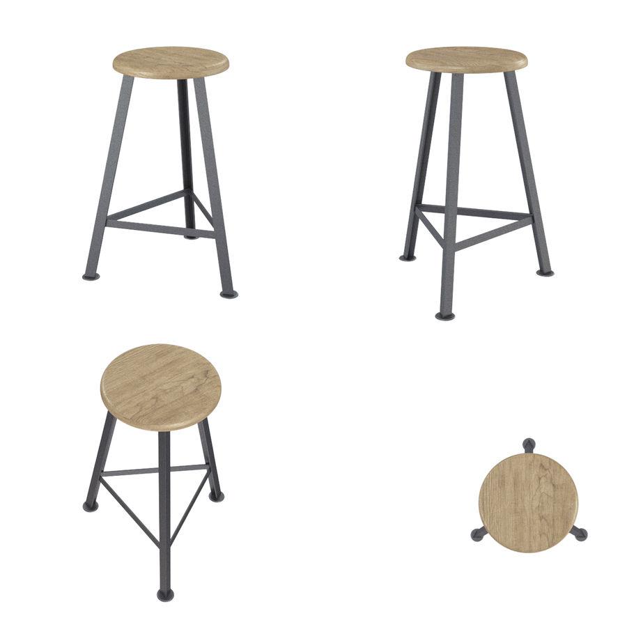 Barkrukken en stoelen royalty-free 3d model - Preview no. 11