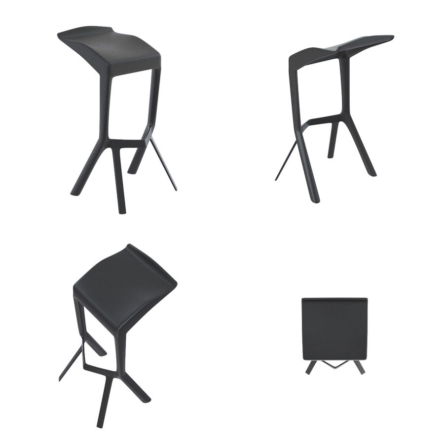 Barkrukken en stoelen royalty-free 3d model - Preview no. 15