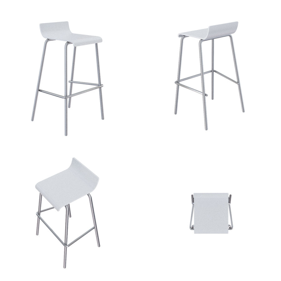 Barkrukken en stoelen royalty-free 3d model - Preview no. 16