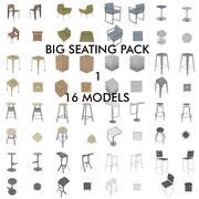 Barkrukken en stoelen 3d model