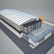 Fábrica de construção industrial 3d model