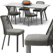 Cadeira Emma Mesa de ligação 3d model