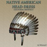 Yerli Amerikan Headdress 3d model
