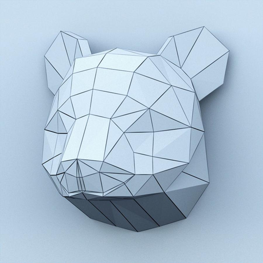 多边形纸熊猫 royalty-free 3d model - Preview no. 4