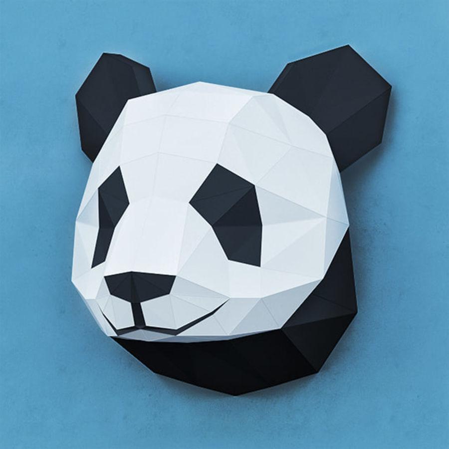 多边形纸熊猫 royalty-free 3d model - Preview no. 2
