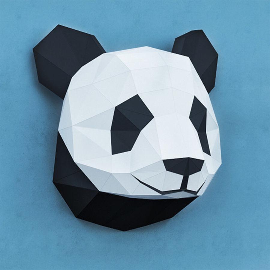 多边形纸熊猫 royalty-free 3d model - Preview no. 3