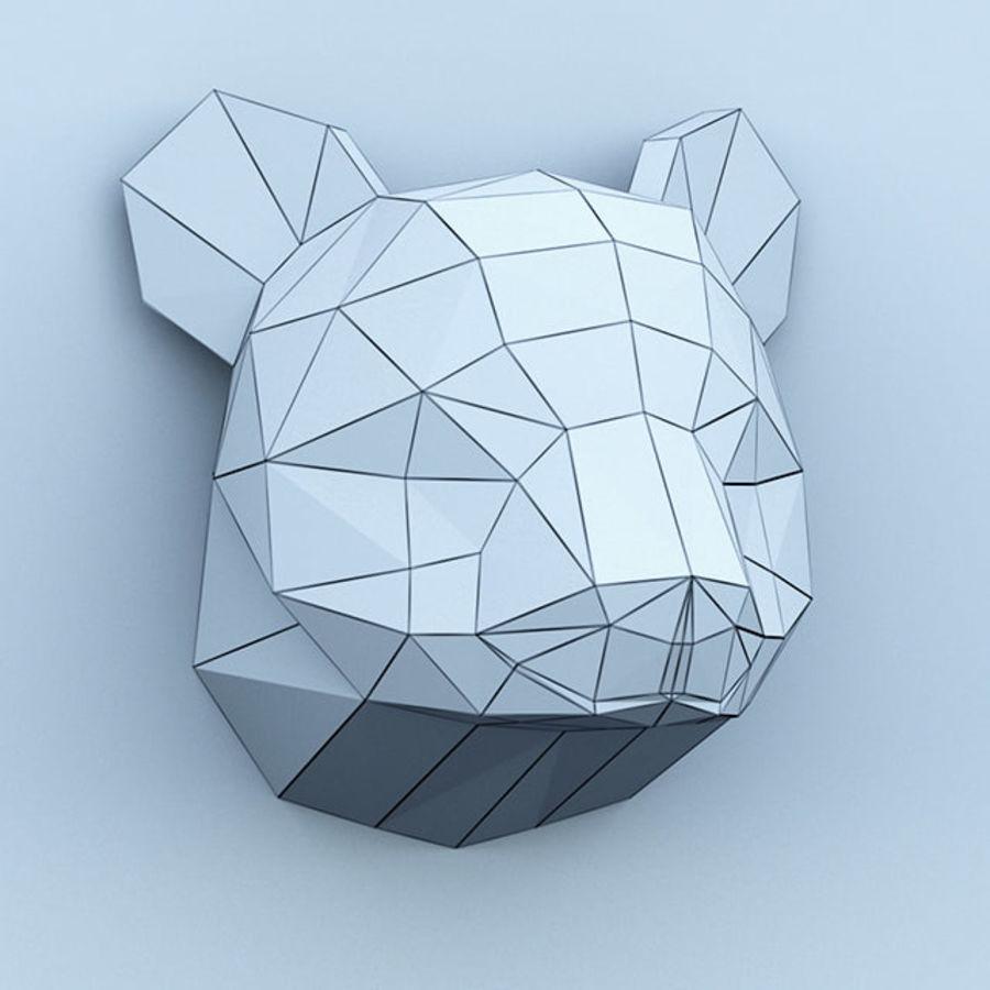 多边形纸熊猫 royalty-free 3d model - Preview no. 5