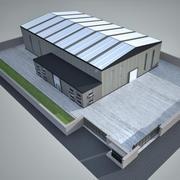 Завод промышленного строительства 2 3d model