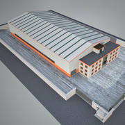 Завод промышленного строительства 4 3d model