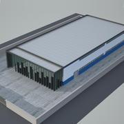 Завод промышленного строительства 3 3d model