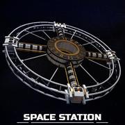 Space station torus sci-fi 3d model