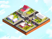 Cartoon Low Poly City Suburbs 3d model