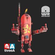 Robot de la guerre mondiale URSS 3d model