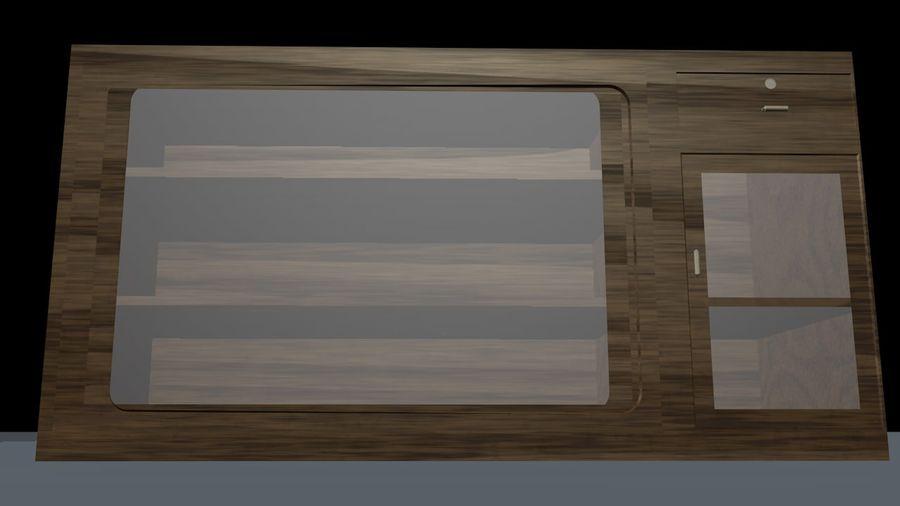 Drewniana wizytówka royalty-free 3d model - Preview no. 4