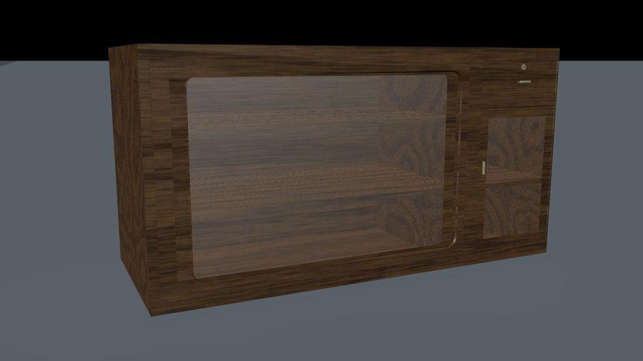 Drewniana wizytówka royalty-free 3d model - Preview no. 1