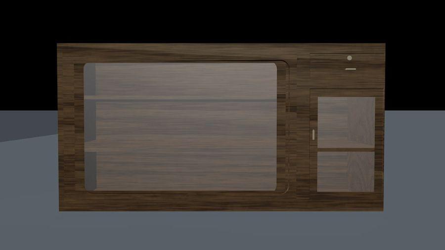 Drewniana wizytówka royalty-free 3d model - Preview no. 2