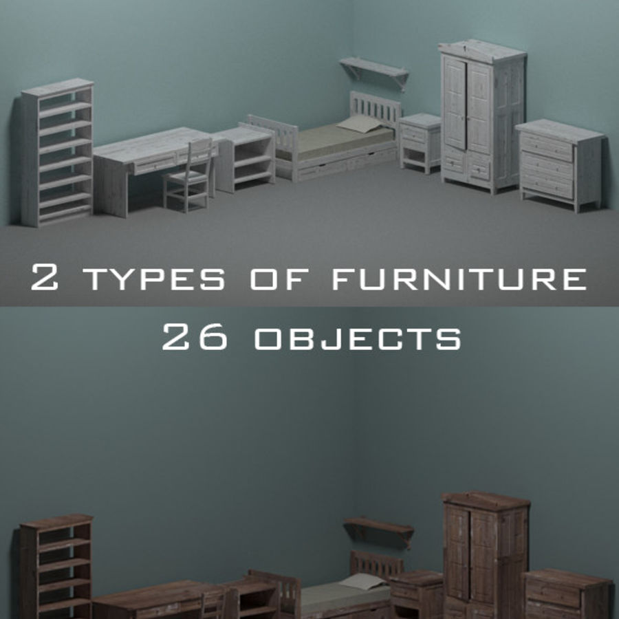 Room furniture royalty-free 3d model - Preview no. 1