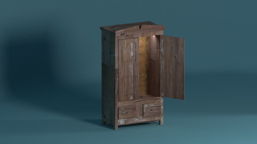 Room furniture royalty-free 3d model - Preview no. 11