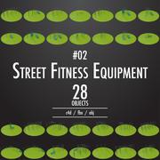 Street Fitness Equipment # 02 3d model