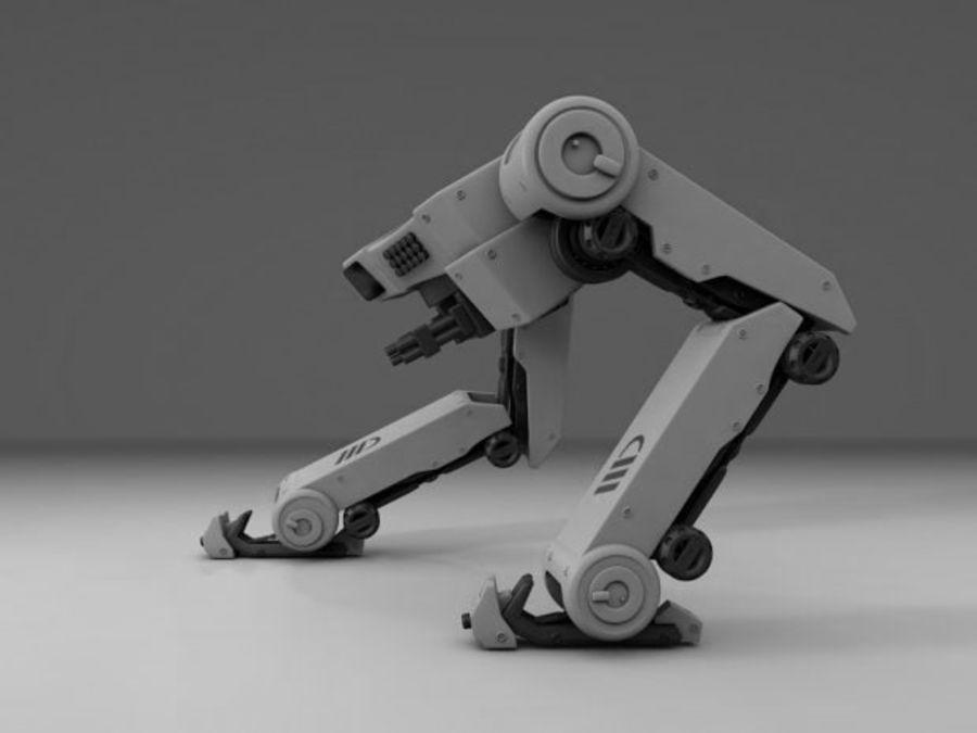 두 다리 로봇 royalty-free 3d model - Preview no. 5