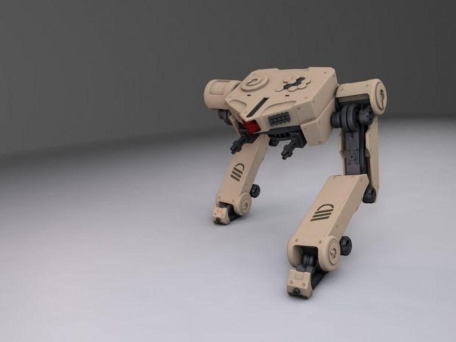 두 다리 로봇 royalty-free 3d model - Preview no. 2