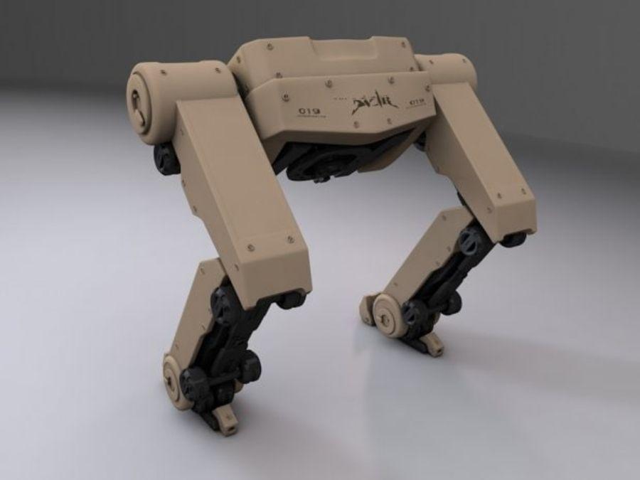 두 다리 로봇 royalty-free 3d model - Preview no. 4