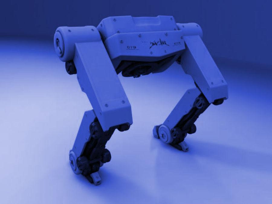 두 다리 로봇 royalty-free 3d model - Preview no. 6