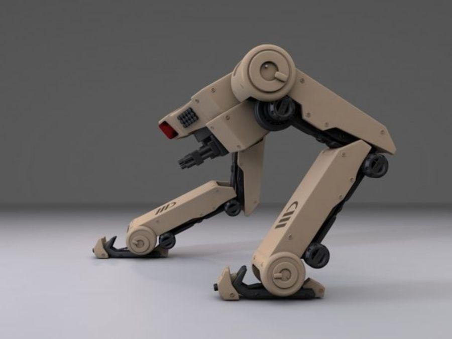 두 다리 로봇 royalty-free 3d model - Preview no. 3