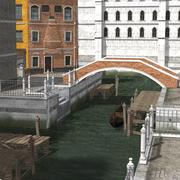 Canal Town (for Poser) 3d model