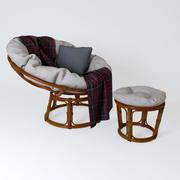 고리 버들 의자 3d model