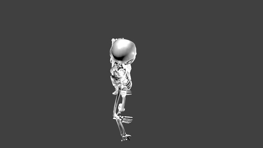 Szkielet człowieka royalty-free 3d model - Preview no. 9