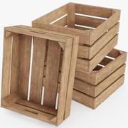 Caisses en bois 3d model