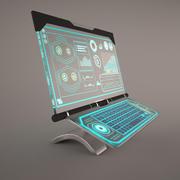 Computer di fantascienza 3d model