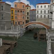 Canal Town obj and fbx format 3d model