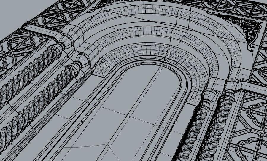 ancient window ancient door royalty-free 3d model - Preview no. 10