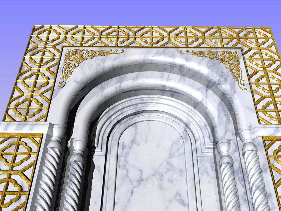 ancient window ancient door royalty-free 3d model - Preview no. 5