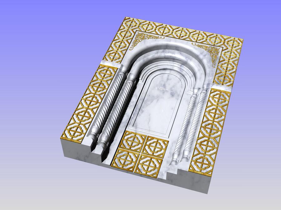 ancient window ancient door royalty-free 3d model - Preview no. 3