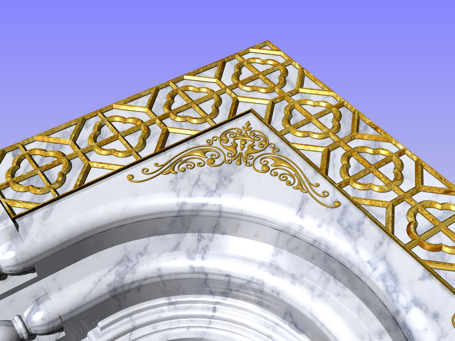 ancient window ancient door royalty-free 3d model - Preview no. 6