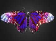 Batterfly Purple Low Polygon Art Insect VR / AR / low-poly 3D-modell 3d model
