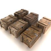 Explosives crate PBR 3d model