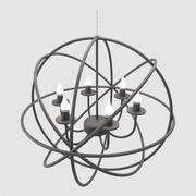 Modern Orbit Chandelier 3d model
